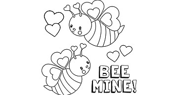 Kids, enter the Miner's Valentine Coloring Contest by Feb. 6 photo