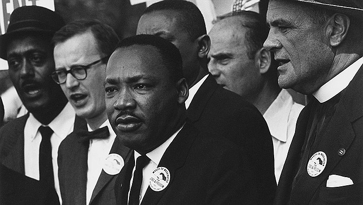 Martin Luther King Day is being observed across the nation in honor of the fallen civil rights advocate, shown during the 1963 Civil Rights March on Washington. (National Archives photo/public domain)