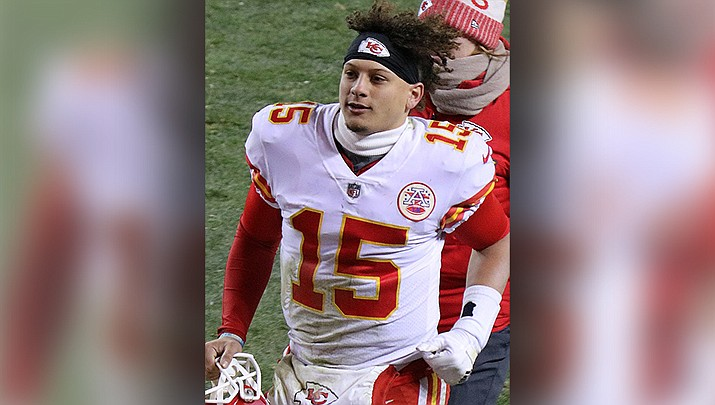 Patrick Mahomes and the Kansas City Chiefs will face the San Francisco 49ers in the Super Bowl on Sunday, Feb. 2 in Miami. (Photo by Jeffrey Beall, cc-sa-by-4.0, https://bit.ly/36bR5Se)