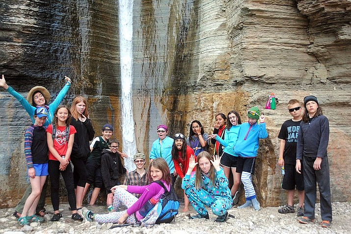 Grand Canyon students in 5th through 8th grade had an opportunity to raft the Colorado River between Diamond Creek and Pierce Ferry in 2018 for an annual Grand Canyon Youth river trip. (Submitted photo)