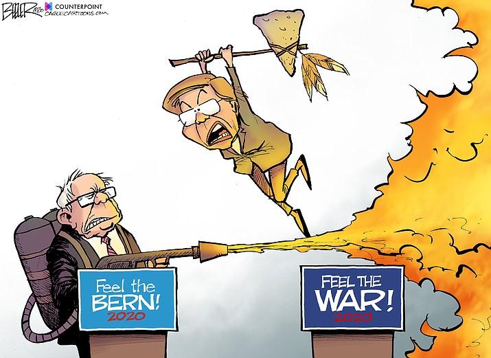 Editorial cartoon (1): Jan. 23, 2020