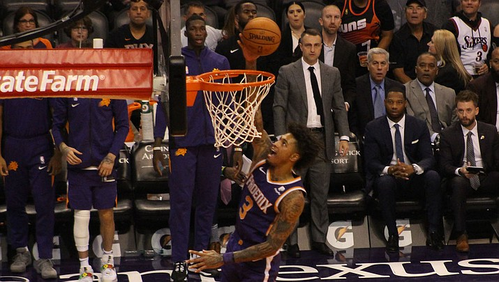 Kelly Oubre Jr. led Phoenix with 17 points and nine rebounds Wednesday night in a 112-87 loss to the Pacers. (Miner file photo)
