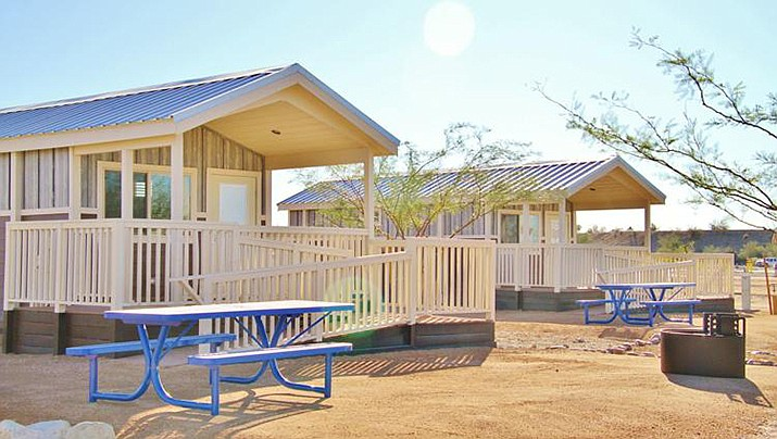 Cabins at Lake Havasu State Park opened to the public late last year. (Today's News-Herald photo/Special to the Miner)