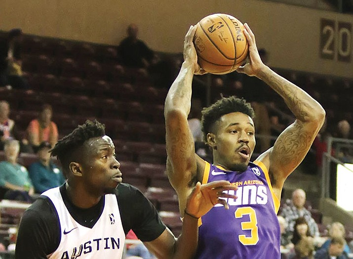 Northern Arizona Suns vs. Austin Spurs 6:30 p.m., Findlay Toyota Center, 3201 N. Main St. Tickets start at $10, www.findlaytoyotacenter.com. (Matt Hinshaw/NAZ Suns)