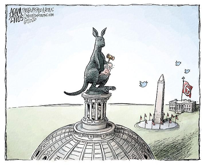 Editorial cartoon (1): Jan. 25, 2020