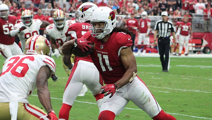 Larry Fitzgerald, who will return to the Cardinals in 2020, recently bought a minority stake in the NBA's Phoenix Suns. (Miner file photo)