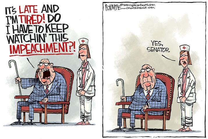 Editorial cartoon (2): Jan. 26, 2020