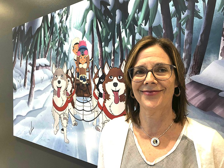 "This June 27, 2019 file photo shows Dorothea Gillim, executive producer and co-creator of ""Molly of Denali,"" at the Anchorage Museum in Anchorage, Alaska. ""Molly of Denali"" is the first cartoon series with an Alaska Native character as the lead. It premiered nationwide on PBS Kids in July. (AP Photo/Mark Thiessen, File)"