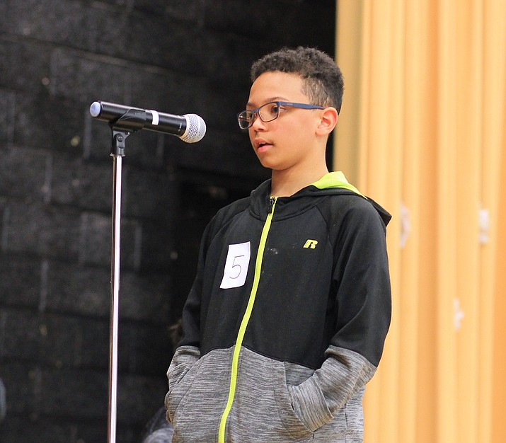 Seventh grader Izzy Rushing won the WEMS Spelling Bee for the fourth time and will advance to the Coconino County Spelling Bee Feb. 8. (Wendy Howell/WGCN)