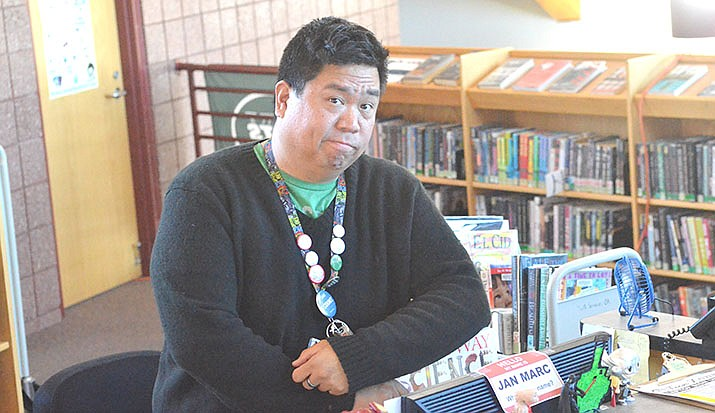 Jan Marc Quisumbing is the new teen librarian in the Teen Zone at the Cottonwood Public Library. The zone is upstairs in a separate area in the library. VVN/Vyto Starinskas