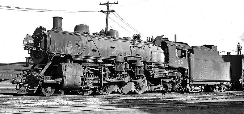 SP&S O-3 539  ex NP 1762   Brooks 1917 - donated Vancouver   Pasco WA 4/30/1945