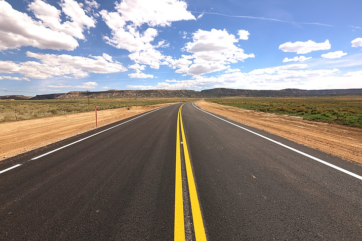 More than three miles of Navajo Route 481 and 7119 were paved by Navajo Department of Transportation. This was the first project done completely in-house by the NDOT Road Maintenance Department. (Photo/NDOT)