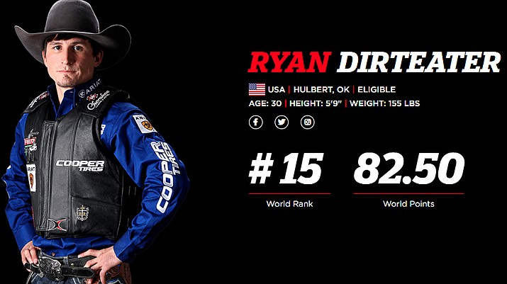 Ranked No. 15 in the world, PBR Ryan Dirteater has announced he will be retiring after the 2020 season. (Photo/pbr.com)