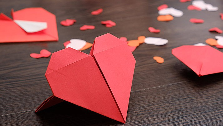 Prescott Origami Fanatics: Origami Hearts class is being held at the Prescott Public Library, 215 E. Goodwin St., Founders Suite A, from 1:30 p.m. to 4:30 p.m. on Sunday, Feb. 2. (Stock image)