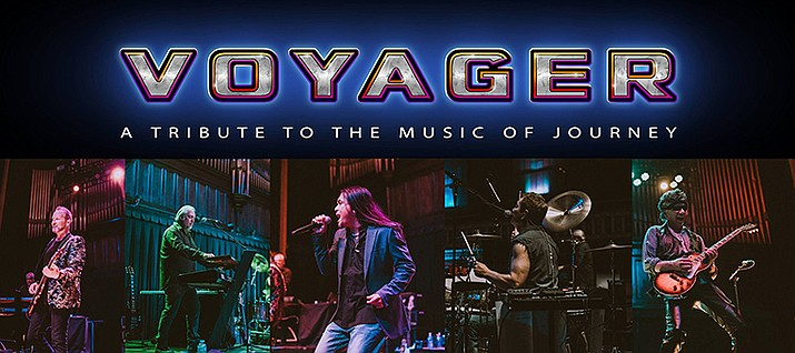 "See ""Voyager — A Tribute to the Music of Journey"" at the Elks Theatre and Performing Arts Center Friday, Jan. 31, featuring a high-energy production and musical tour of the classic Journey songs such as ""Faithfully,"" ""Open Arms,"" ""Who's Crying Now?"" ""Wheel in the Sky,"" ""Anyway You Want It"" ""Don't Stop Believin'"" and many more."
