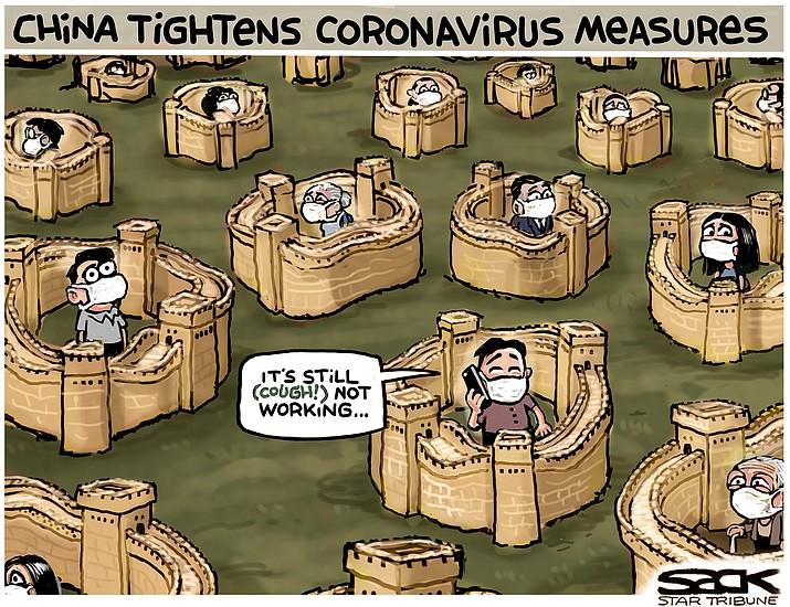 Editorial cartoon (1): Feb. 2, 2020
