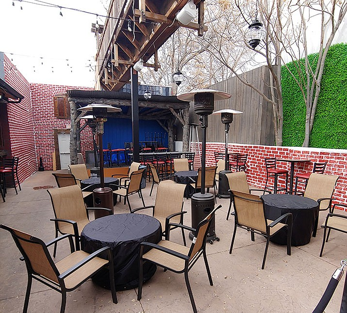 Montezuma Tavern, which opened on Jan. 25, 2020, in the former Rickety Cricket space at 214 S. Montezuma St. in downtown Prescott, will be reopening the patio out back this spring. (Doug Cook/Courier)