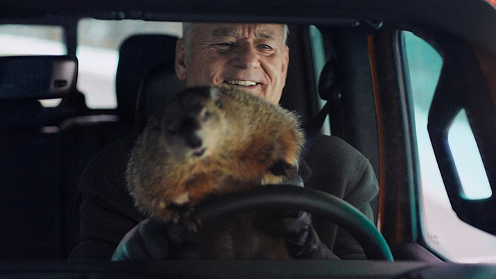 """Bill Murray reprised his role in """"Groundhog Day"""" for a Jeep ad that aired during the Super Bowl. (Photo courtesy of Jeep)"""
