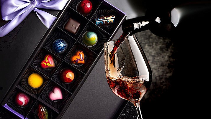 "Come enjoy this special edition of Highlands Happy Hour, ""Chocolate Making & Wine Tasting"" in downtown Prescott from 4:30 to 6:30 p.m. on Friday, Feb. 7. (Black Butterfly Artisan Chocolates, Monica Brabant/WNI Photo Illustration)"