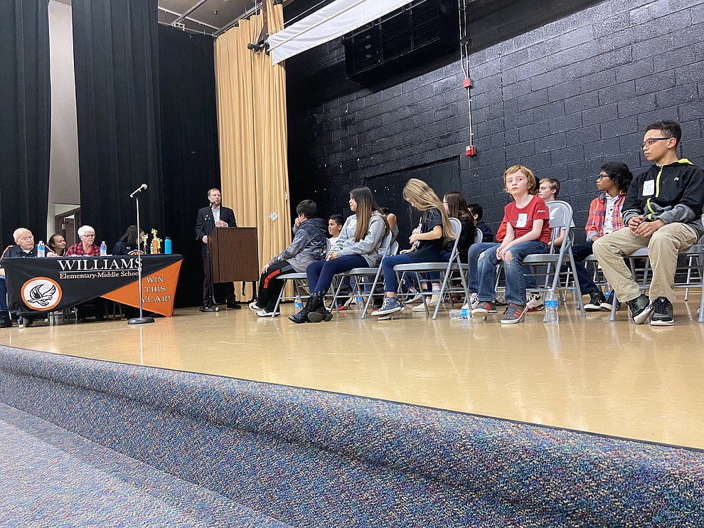 Williams Elementary-Middle School students participate in the 2020 spelling bee Jan. 30. (Wendy Howell/WGCN)