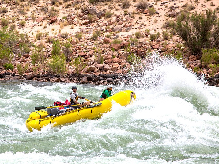 A non-commercial river trip on the Colorado River prepares to enter Hance Rapid in 2019. The 2021 non-commercial river rafting lottery opened Feb. 1 and will close Feb. 25. (NPS/Neal Herbert