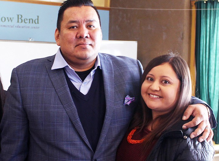 Jason and Stephanie Allison are co-owners of DreamCatcher Financial Strategies LLC. The couple provided a financial literacy class Dec. 28 in Flagstaff, Arizona. (Joshua Lavar Butler/NHO)