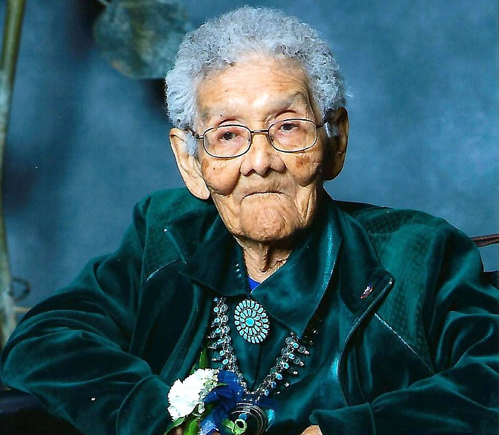 Sophie Yazzie, born near Canyon de Chelly on the Navajo reservation passed away Jan. 25 in Tucson. Yazzie is said to be the longest living veteran in Arizona. (Photo/Office of the Navajo Natiion Office of the Speaker)