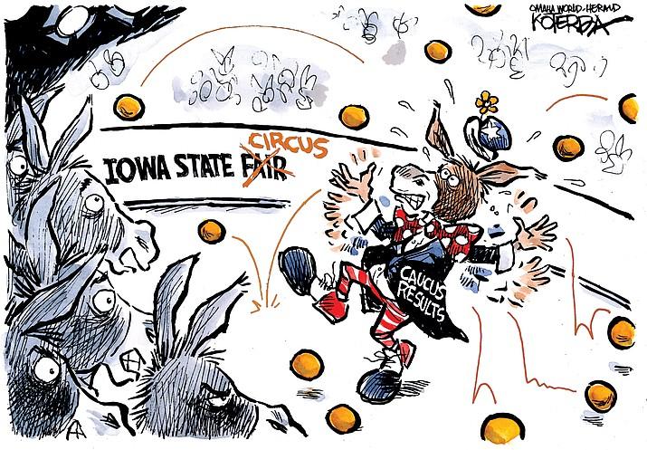 Editorial cartoon (1): Feb. 6, 2020
