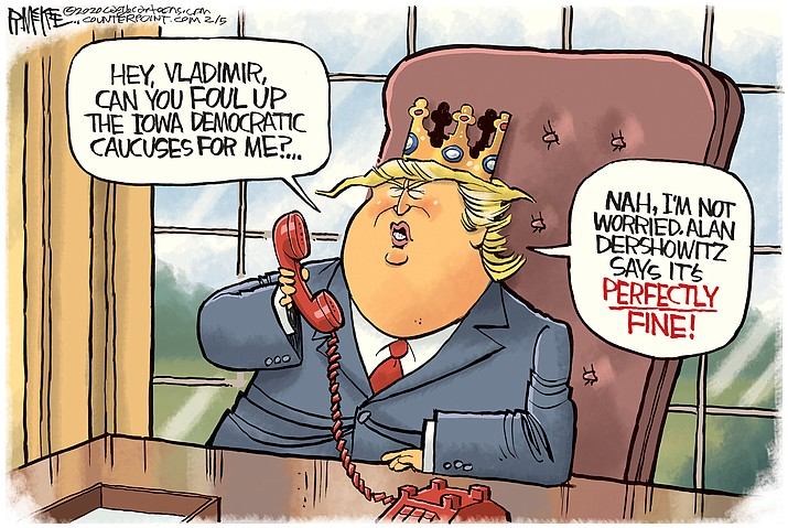 Editorial cartoon (2): Feb. 6, 2020