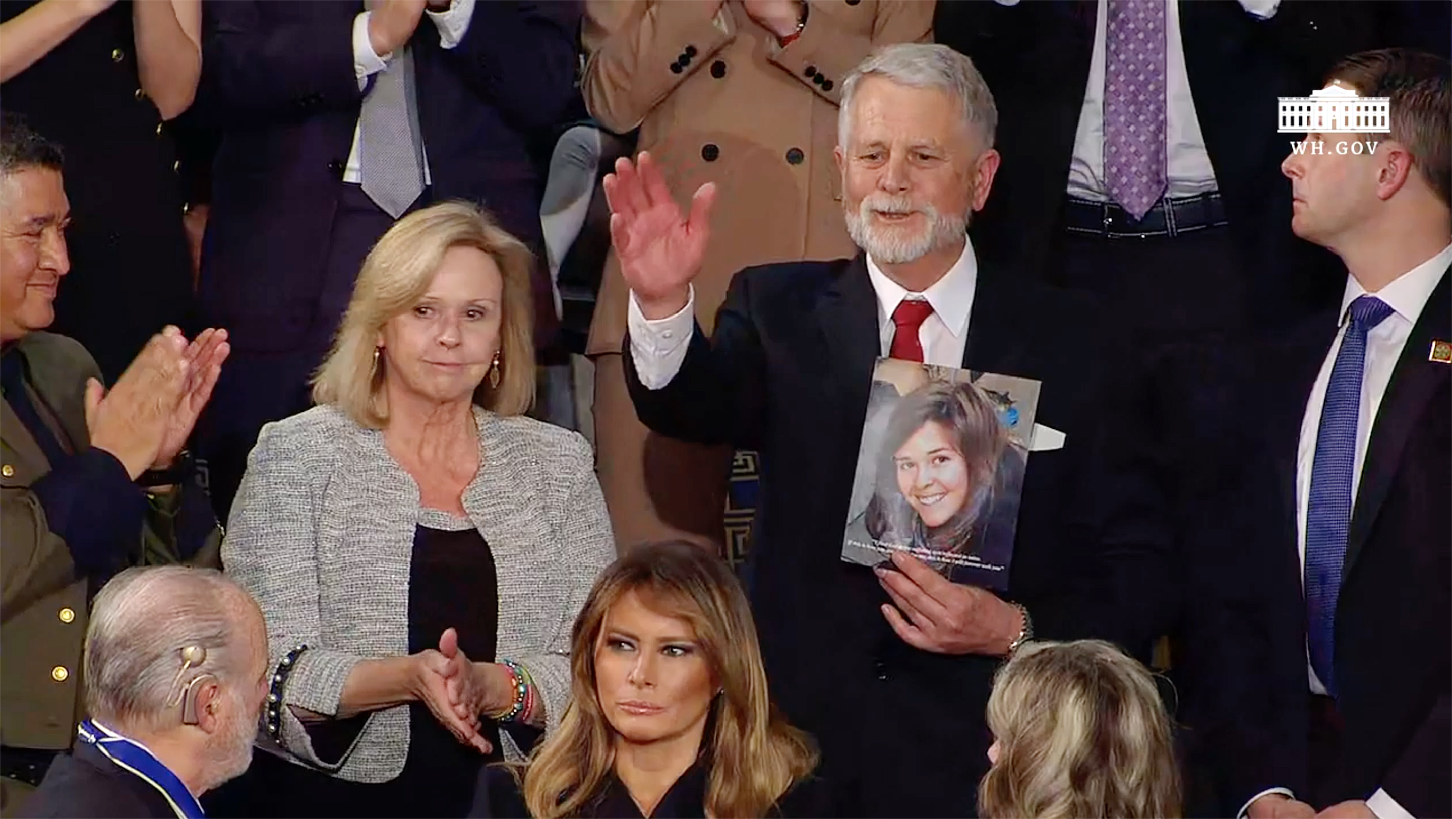 Prescott's Kayla Mueller, her parents honored by President Trump in State of the Union