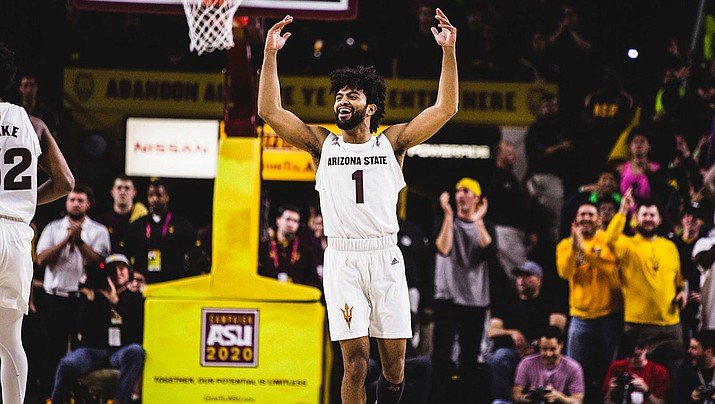 Remy Martin tallied 15 points Thursday as Arizona State cruised to an 84-66 win over UCLA. (Photo courtesy of Sun Devil Athletics)