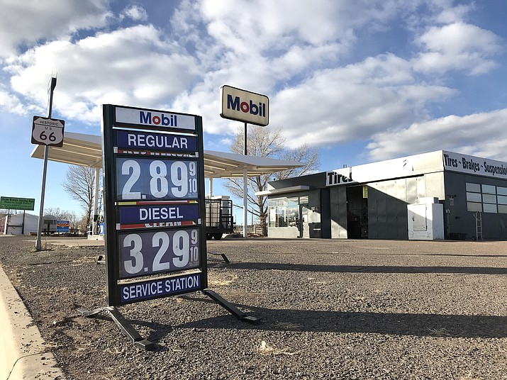 The price of gasoline in northern Arizona remains high – or higher than other places in the state. This one is in Ash Fork. (Courier photo)
