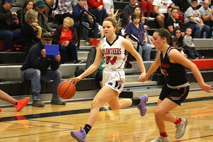 Lee Williams senior Liberty Cronk tallied 15 points Friday in a 50-30 win over Mohave. (Miner file photo)