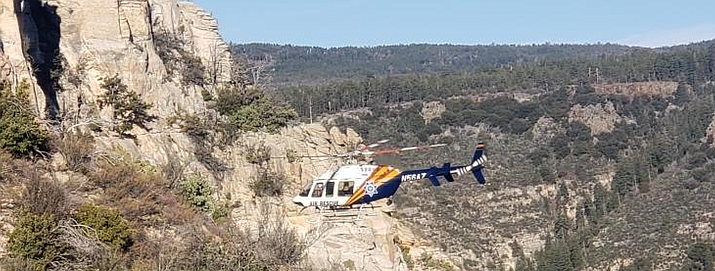 Wednesday afternoon, Sedona Fire District was dispatched for an injured hiker near the top of the A.B. Young trail in Oak Creek Canyon —and ended up rescuing two hikers. Courtesy of Sedona Fire