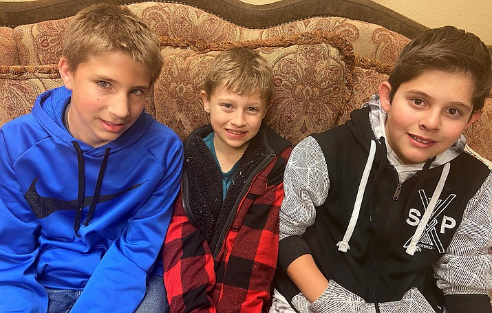 Beaver Creek students Drake Reynolds, Colton Straford and Valentine Uribe, from left, each said the best part of their free dental examination was the free lunch that followed. VVN/Bill Helm