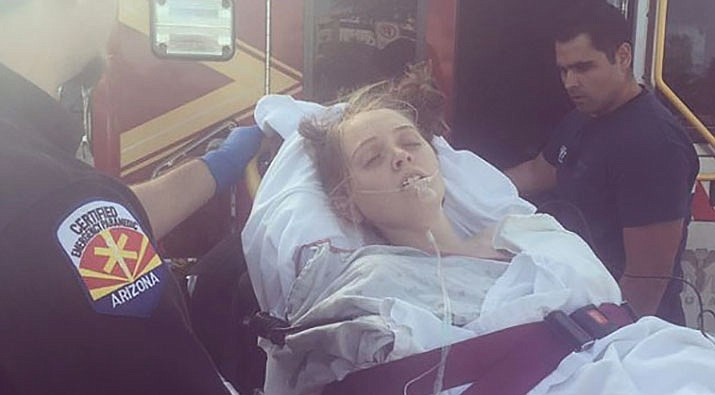 Paramedics attend to Paloma Marolf after she went into a diabetic coma in December 2015. (Photo courtesy of Trisha Madrid)