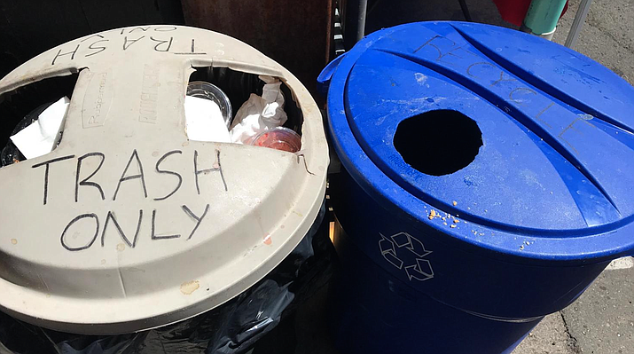 The Phoenix City Council voted 7-2 to raise the solid waste residential rate by $6.40 over the next two years. The increase is meant to maintain the city's current recycling and composting services. (Photo by Cronkite News)