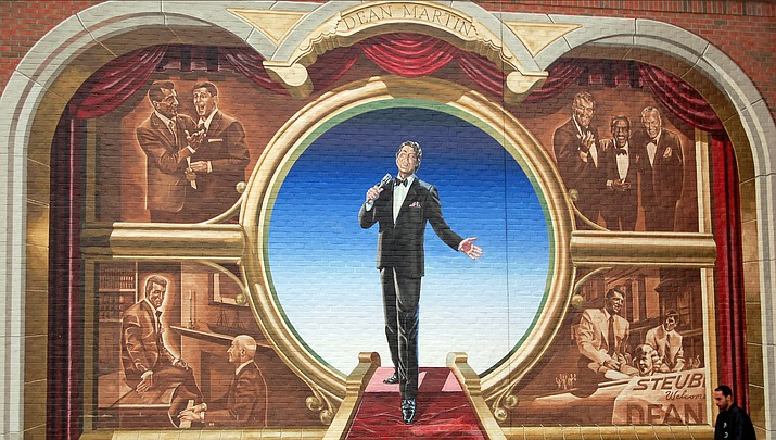 A mural of singer Dean Martin is shown in his native Steubenville, Ohio. (Photo by kinggrl, cc-by-sa-2.0, https://bit.ly/2OLi8xH)