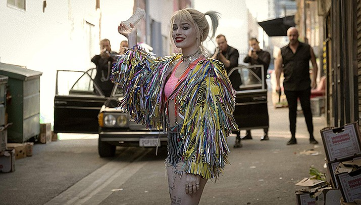 """Margo Robbie is shown in a scene from """"Birds of Prey: And the Fantabulous Emancipation of One Harley Quinn."""" (IMDb photo)"""