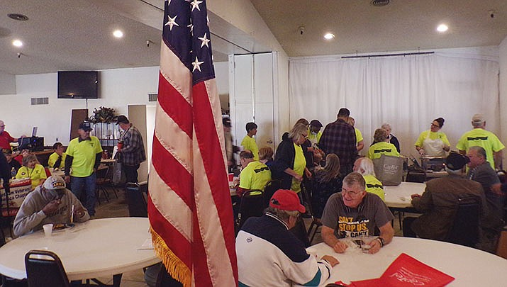 Veterans mingle at the inaugural JAVC Veterans Resource Fair at Elks Lodge 468. (Photo by Sarah Pleth/Elks 468)