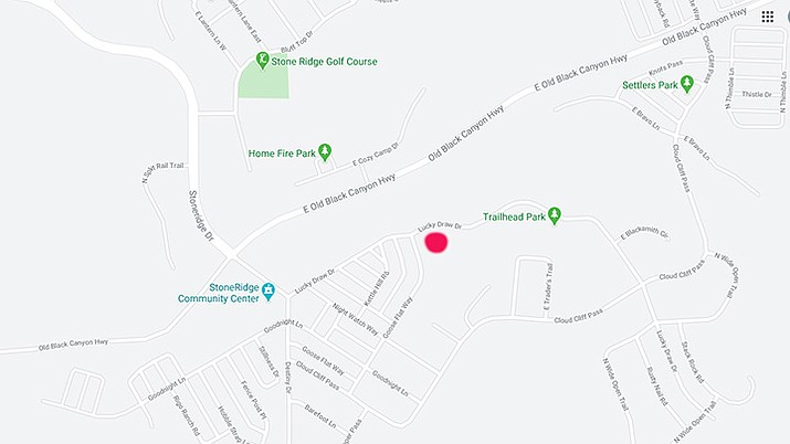This map shows the approximate location in the StoneRidge subdivision which may be rezoned for single-family residential homes. (Google maps)
