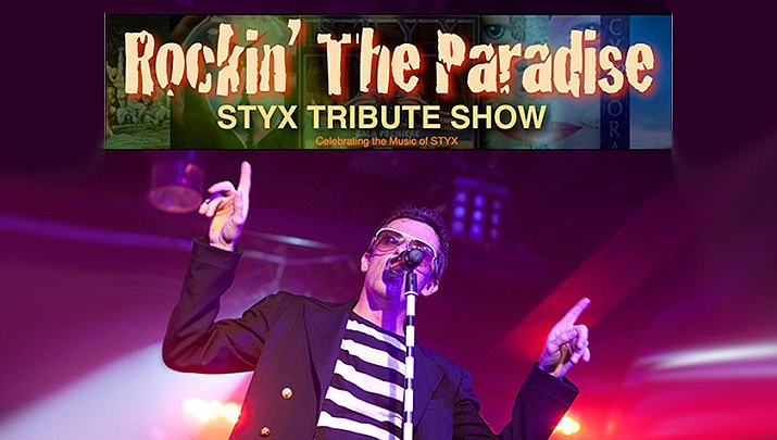 """Check out the """"Rockin' the Paradise Styx Tribute"""" show at the Elks Theatre Performing Arts Center, 117 E. Gurley St. in Prescott at 7 p.m. on Saturday, Feb. 15. (Elks Theatre Performing Arts Center)"""