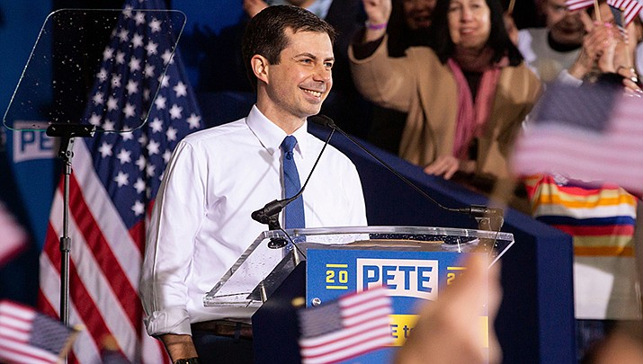Pete Buttigieg is just one of the candidates for the Democratic nomination for U.S. president who has involved the Gospel of Matthew in his campaign. (Photo by Gary Riggs, cc-by-sa-4.0, https://bit.ly/2OTNNNL)