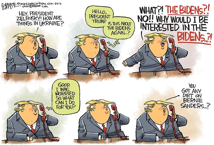 Editorial cartoon (2): Feb.14, 2020
