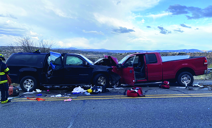 A five-year-old child who was involved in a vehicle collision on Cornville Road in Rimrock has died after being taken off of life support.(YCSO/Courtesy)