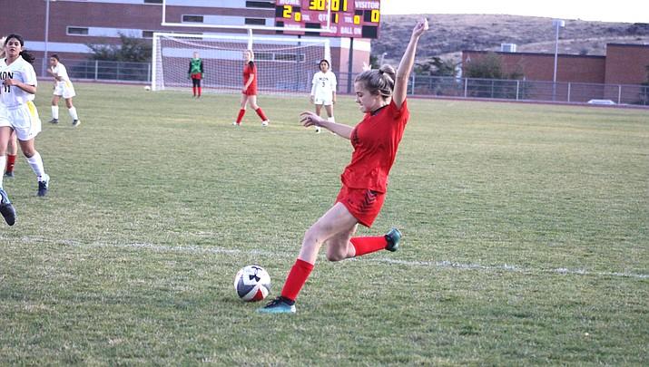Lee Williams sophomore Alysiana Martin scored a goal Thursday in a 4-1 loss to GIla Ridge. (Miner file photo)