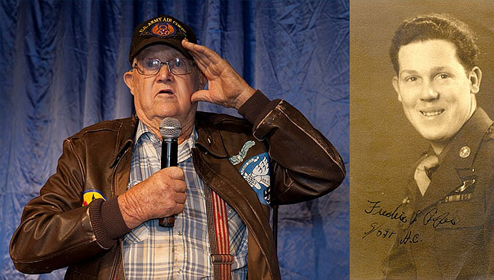 Sedona native Fred L. Piper joined the U.S. Army Air Corp (later the U.S. Air Force) in 1943, flying his first combat mission as a ball turret gunner on a B-17 in October of 1944. Courtesy photos