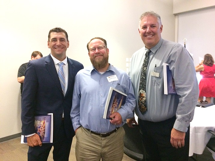 The three local district superintendents, from left, Dan Streeter, superintendent of the Humboldt Unified School District; Joe Howard, superintendent of the Prescott Unified School District; and John Scholl, superintendent of the Chino Valley Unified School District. (Nanci Hutson/Courier)