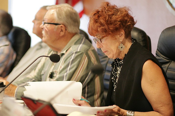 At 9 a.m. Thursday, the Yavapai County Planning and Zoning Commission will consider a zoning map change request to allow for a 302-unit housing project to be built in Rimrock. Pictured, Sandy Griffis, commissioner. VVN/Bill Helm
