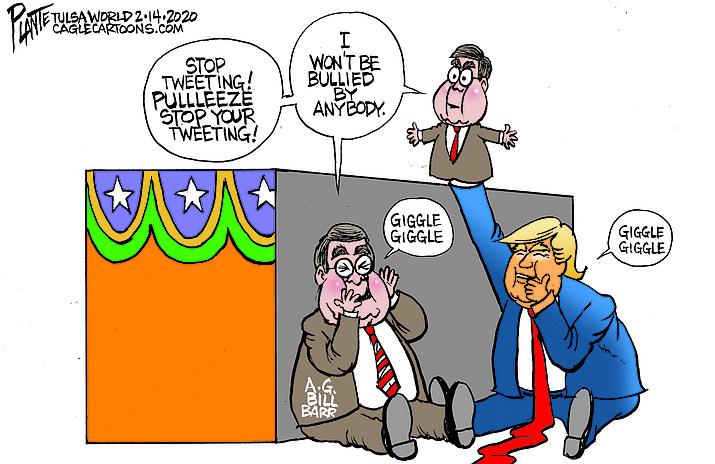 Editorial cartoon (1): Feb. 16, 2020